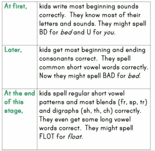 Letter Name Alphabetic Stage   Words their way